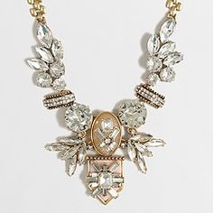 Factory fanned jewel necklace