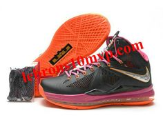 uk availability 2c1ca b176c Nike Zoom Lebron 10(X) Carving Shoes Black Pink Orange Nike Shoes