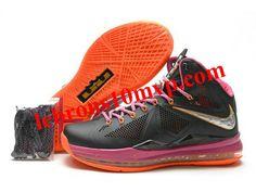 uk availability 38c40 4246a Nike Zoom Lebron 10(X) Carving Shoes Black Pink Orange Nike Shoes