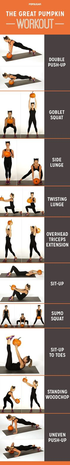 Burn off that Halloween candy with our favorite pumpkin workout!