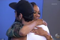 Hugged it out: Tyra hugged the season 22 winner of ANTM