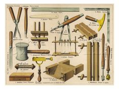 bookbinding tools poster, 1875.