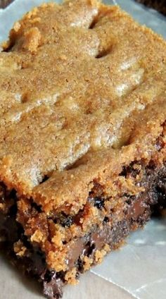 Chocolate Chip English Toffee Cookie Bars Posted By 13 Desserts, Cookie Desserts, Delicious Desserts, Health Desserts, Trifle Desserts, Plated Desserts, Brownie Recipes, Cookie Recipes, Dessert Recipes
