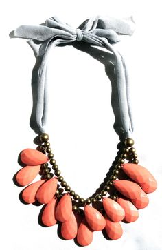 As seen in Redbook magazine, the Punch necklace in blush pink! {also available in Lilly white} #SwellCaroline #Statement