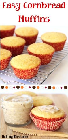 Easy Cornbread Muffins Recipe! ~ from TheFrugalGirls.com ~ add a little sweet and simple muffin perfection to your BBQ dinner or picnic! #recipes #thefrugalgirls