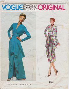 1970s Pierra Balmain Vogue Paris Original Pattern by CloesCloset, $43.00