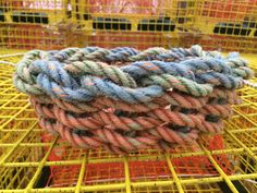 Recycled Lobster Float Rope Basket by SaltyIslandCrafts on Etsy