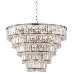 "Magnificence Satin Nickel 24 1/2"" Wide Crystal Chandelier"