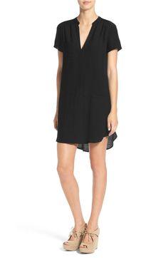 Main Image - Lush Split Neck Shift Dress