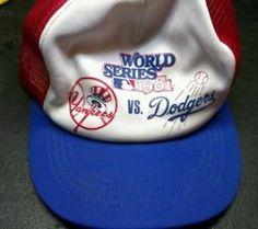 #LongBeach CA Merchandise / Vtg 1981 LA #Dodgers New York #Yankees #WorldSeries Snap Back #Hat #Cap - Geebo