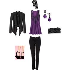 Black & Purple Outfit By Candis (FLFairy)