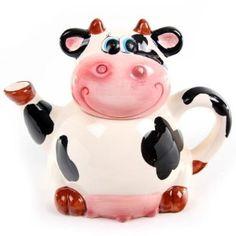 Buttercup, the cow Cow Kitchen Decor, Cow Decor, Kitchen Tools, Teapots Unique, Vintage Teapots, Cute Teapot, Cow Creamer, Teapots And Cups, Ceramic Teapots