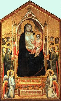 Giotto di Bondone, Madonna Enthroned, from the Church of Ognissanti, Florence, Italy, ca. 1310.