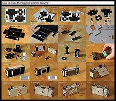 video camera out of cardboard cool dippold pinhole camera paper toys crafts models of video camera out of cardboard Diy Pinhole Camera, Toy Camera, Photography Projects, Photography Tips, Summer Photography, Camera Photography, Creative Photography, Cardboard Camera, Tutorials