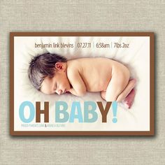Oh Baby! Birth Announcement