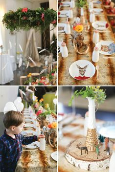 Colorful & Hip Woodland Birthday Party Brunch // Hostess with the Mostess®