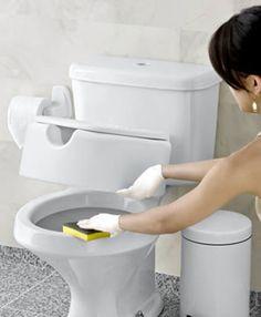 Como clarear tampa de vaso sanitário | Dona de Casa Perfeita