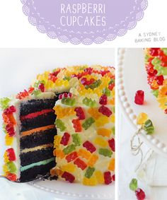 How fun is this Gummy Bear Layer #Cake from raspberri cupcakes? Perfect for a #birthday party!