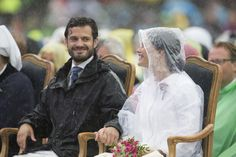 The couple didn't let a little rain ruin their day while celebrating Princess Victoria's 37th birthday in J...