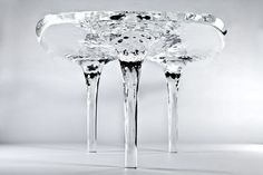 Liquid Glacial Table by Zaha Hadid Architects. More photos: http://www.interiordesignliving.com/2013/03/amazing-dining-table-for-modern.html#  © Jacopo Spilimbergo