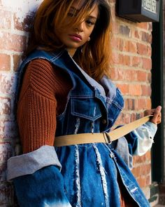 : @lazyboi_photography  Model: @britneyrenea_. Designer/Stylist: @orig.jah.nal  #FallFashion #Fashion #Fall #Style #Stylish #WomensWear #CustomDesign #Wardrobe #Styling #StreetWear #StreetFashion #StreetArt #Art #Model #Newark #NJ #NYC #NY #Downtown #Brick #Rustic #NaturalHair #RespectMyHair #Create #Design #Editorial #Denim #EC #EpicureanCommune