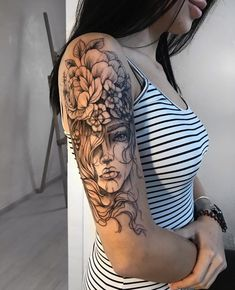 Tattoos, Tattoos On Arm, Female Tattoo, Tattoo Dope Tattoos, Girly Tattoos, Flower Tattoos, Body Art Tattoos, Tattoos For Guys, Arm Sleeve Tattoos For Women, Tatoos, Tattoos Pics, Tattoo Sleeves