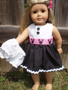 18 Doll Clothes American Girl or bitty baby by sassydollcreations, $11.99