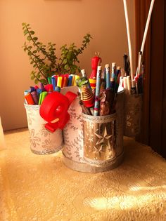 Desk organizer -- homemade #homeinspiration