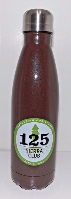 Sierra Club 125  Stainless Steel Water Bottle 16 oz Brown #SierraClub