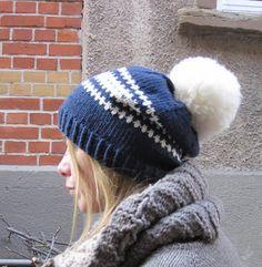 Stashbustin skihase hat - free knitting pattern - I've got to try this.