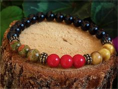 Gemstone Bracelet,Handmade Bracelet,Mala Bracelet,Gemstone jewellery,Red…