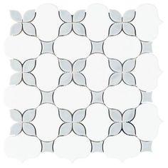 tile ideas floor Iris Dust Polished Porcelain Mosaic - 12 x 12 - 100566421 Mosaic Bathroom, Bathroom Floor Tiles, Mosaic Tiles, Shower Floor Tile, Tiling, Shower Backsplash, Shower Walls, Marble Mosaic, Wall Tile
