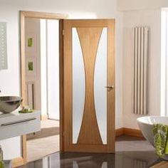 Four Folding Doors & Frame Kit - Verona Oak - Clear Glass - Prefinished Sliding Wardrobe Doors, Oak Doors, Door Fittings, Fire Doors, Folding Doors, Room Divider Doors, Bifold Doors, Primed Doors, Internal Doors