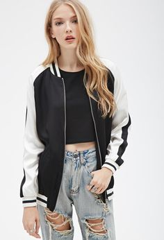 Step out in a hot new bomber jacket this winter. Whether you're looking for chic metallic or utility green, Forever 21 has it all. Coats For Women, Jackets For Women, Forever 21, Shop Forever, Leather Jackets Online, Lightweight Jacket, Pulls, Latest Trends, Street Wear