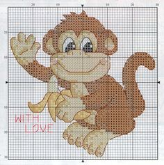 WITH LOVE 2 (no color chart available, just use photo/pattern chart as your stitch/color guide... or choose your own colors)