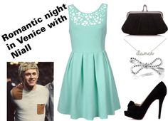 """""""Romantic night in Venice with Niall"""" by marylerman ❤ liked on Polyvore (nevermind all of the One Direction stuff--this outfit is cute.)"""