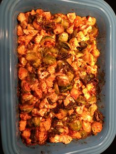 Paleo buffalo chicken casserole - but I won't eat Brussels sprouts eve for whole30!