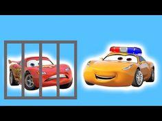 Disney Cars Mcqueen in Prison vs Cruz Ramirez Police Car Finger Family Rhymes - YouTube