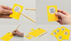 Bang Your Own Drum business card is a tiny drum; it comes with gift pencils that are also drum sticks