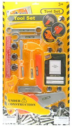 Under Contruction Children's 19pc Tool Set * Check out the image by visiting the link.
