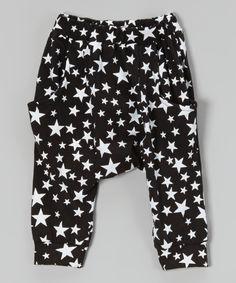 Black Star Harem Pants - Infant, Toddler & Girls