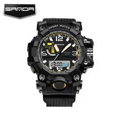 SANDA Luxury Brand Fashion Casual Quartz Watch Men Sport Watch Dive Military Electronics Digital Mens watches Relogio Masculino