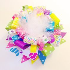 EGGstravagant Easter Loopy Boutique Hair-Bow! Check it out on the blog with complete how-to instructions!