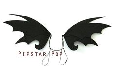 PROMO Black Dragon Fairy Wings (1 Pair) Gothic Costume wings for dress up and Halloween, Ren Faire, and cosplay on Etsy, $16.00