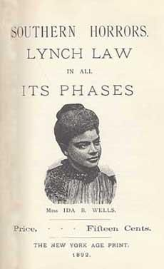 Southern Horrors. Lynch Law in All Its Phases (1892) By Ida B. Wells-Barnett