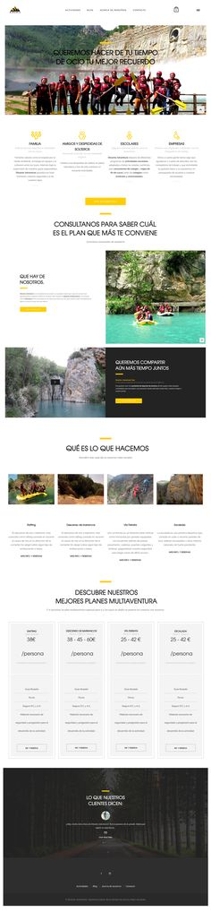 Dinamic Adventure - Web Design