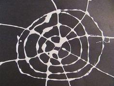 Bumpy glue spiderwebs