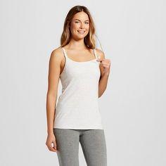 Women's Nursing Cotton Cami Gray Stripe 3XL, Size: Xxxl, Light Grey Stripe