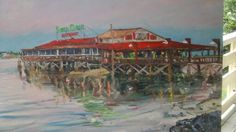 450th St. Augustine, Florida Artist: Heather Dawn Harley-Davidson Title : Santa Maria Medium : Oil on wood
