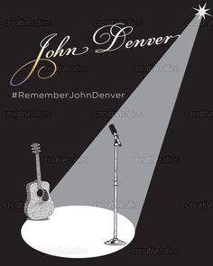 John Denver Poster by Peggy Hellem on CreativeAllies.com